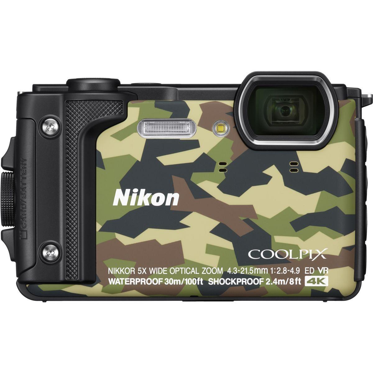 Appareil photo compact nikon coolpix w300 camouflage + sac �tanche (photo)