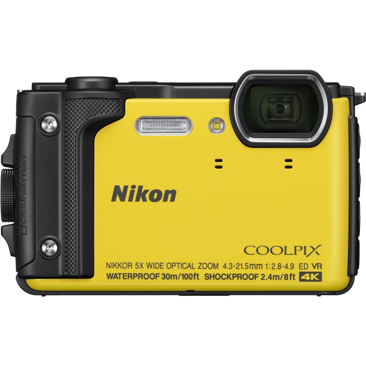 Appareil photo compact nikon coolpix w300 jaune + sac �tanche (photo)