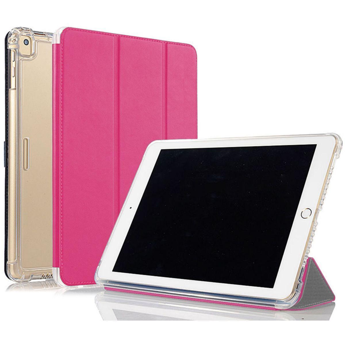 Coque ibroz antichoc + smart cover ipad 9.7 rose - livraison offerte : code premium (photo)