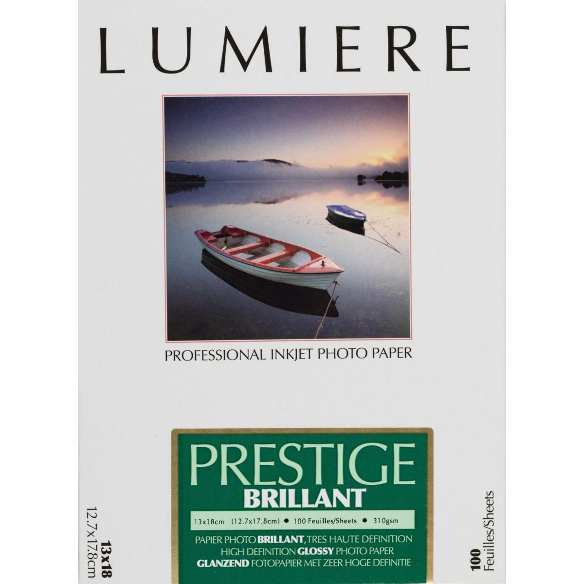 Papier photo lumiere prestige brillant 100f 12,7x17,8 310g - 2% de remise imm�diate avec