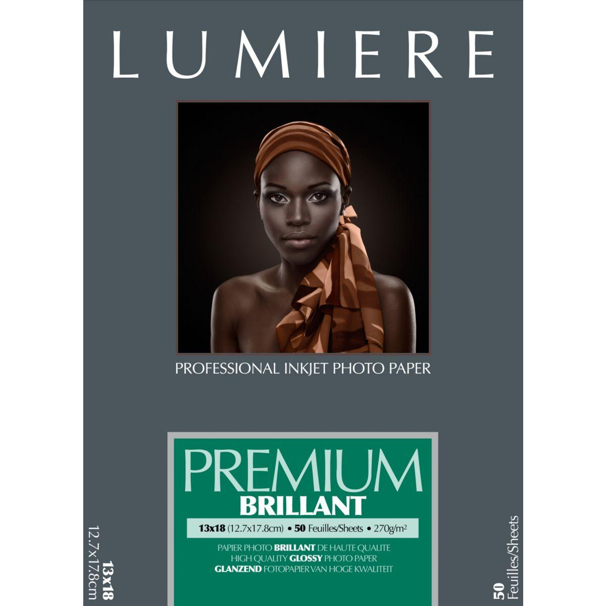 Papier photo lumiere prestige brillant 50f 12,7x17,8 270g - 2% de remise imm�diate avec
