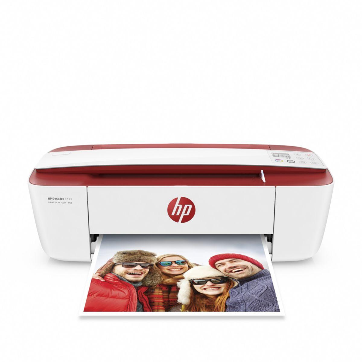 Imprimante jet d'encre hp deskjet 3733 rouge (photo)