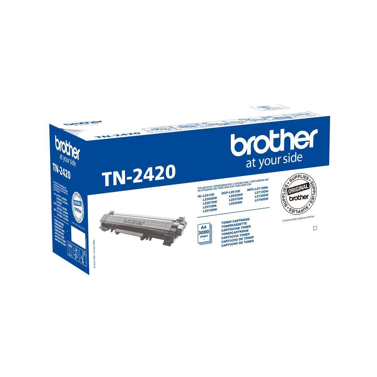 Toner brother tn2420 noir - 2% de remise imm�diate avec le code : deal2