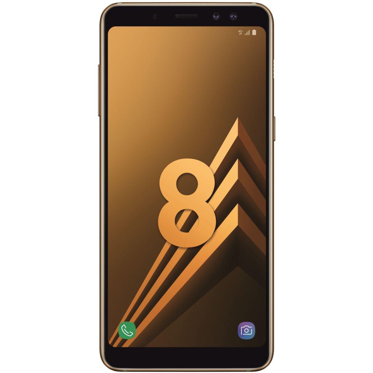 Smartphone samsung galaxy a8 gold dual s - livraison offerte : code liv