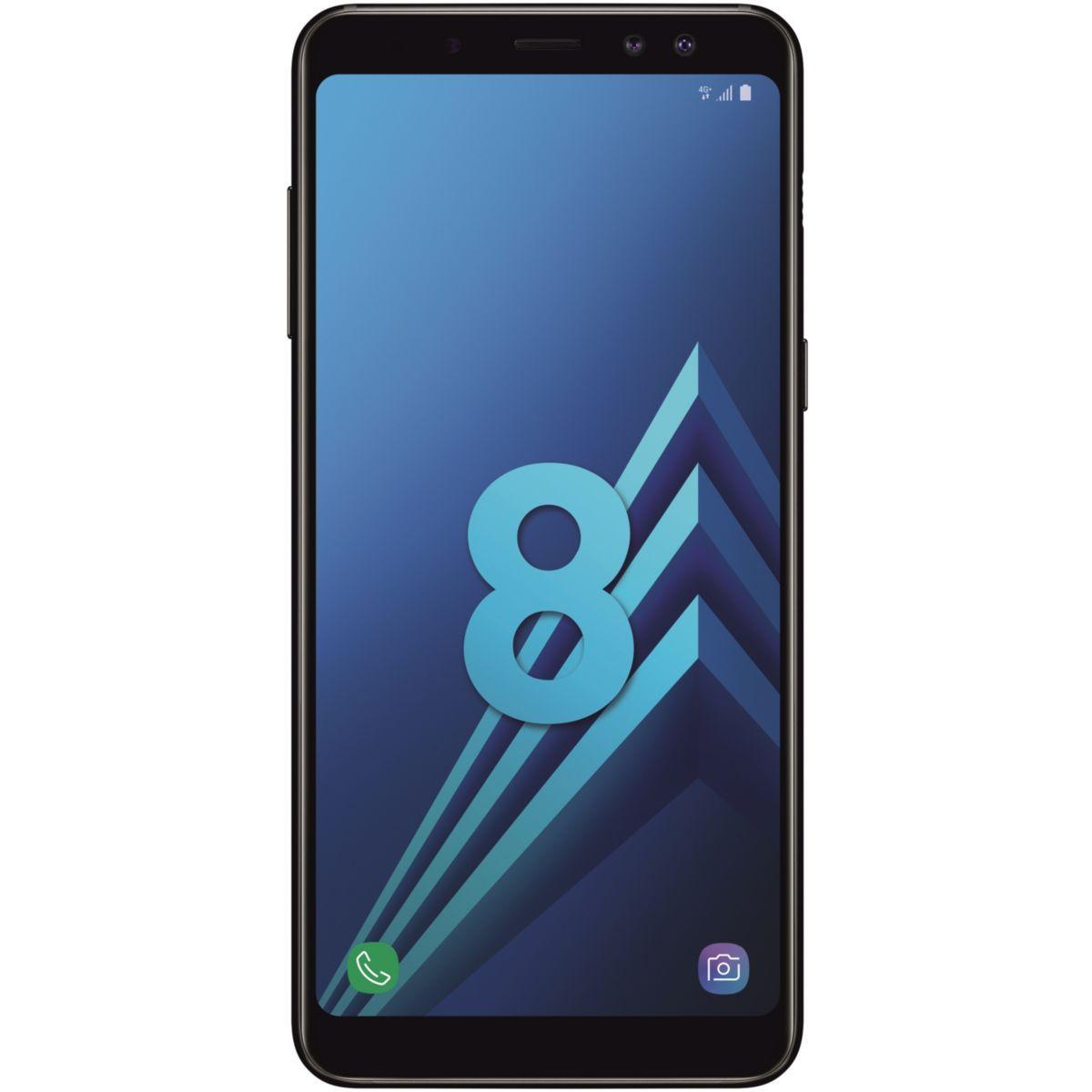 Smartphone samsung galaxy a8 noir dual s - livraison offerte : code liv