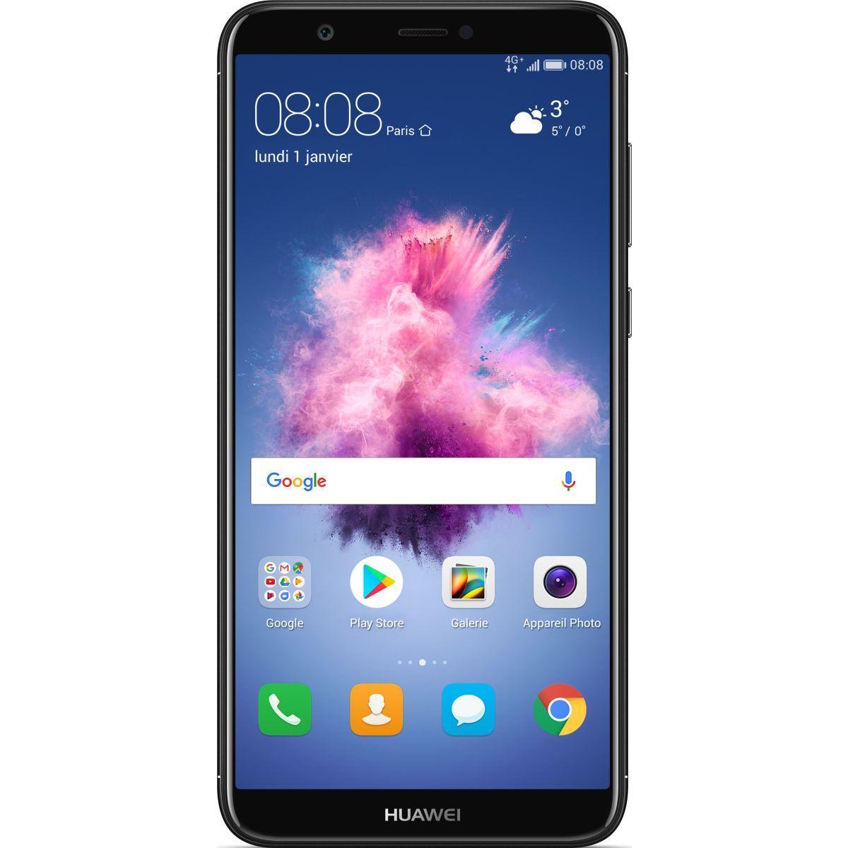 Smartphone huawei p smart noir - livraison offerte : code liv