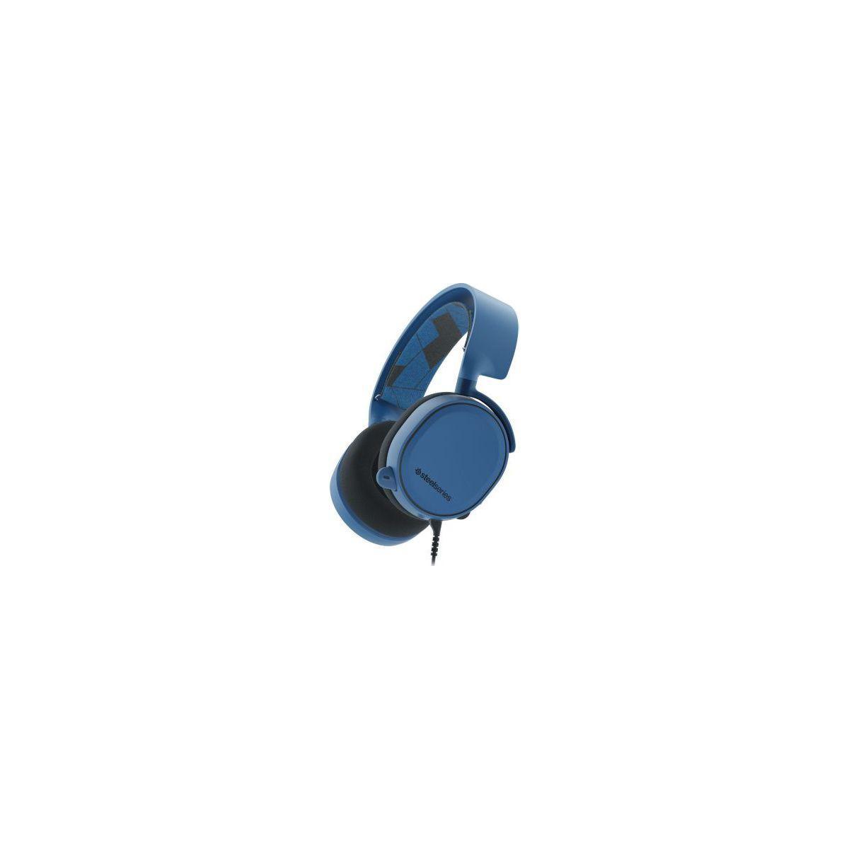 Casque gamer steelseries artic 3 solar ice bleu - livraison of...