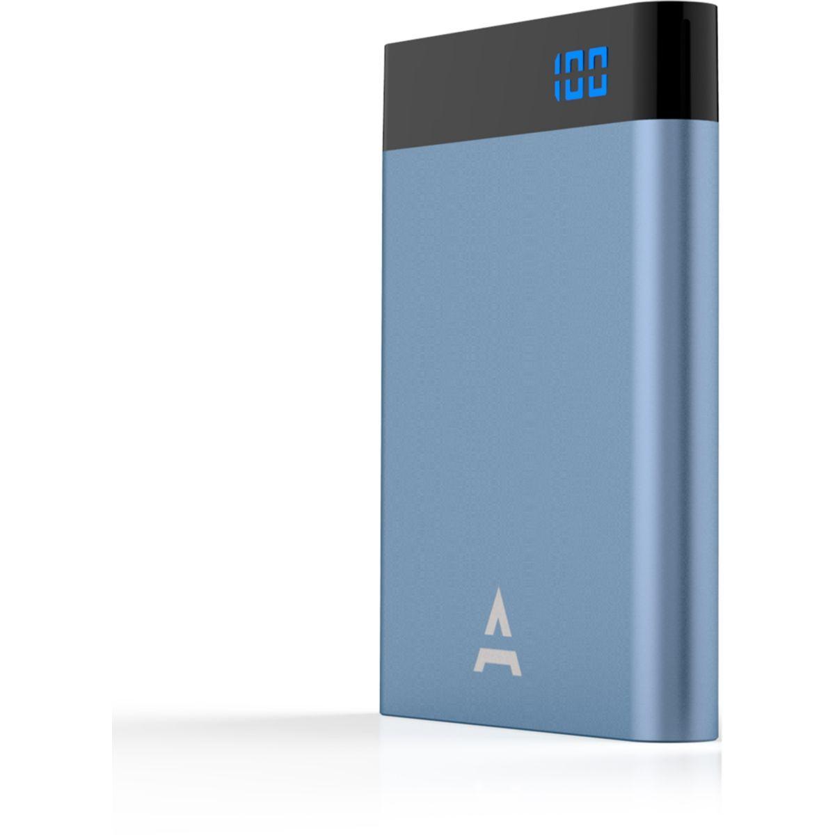 Batterie externe adeqwat 4000 mah bleu (photo)