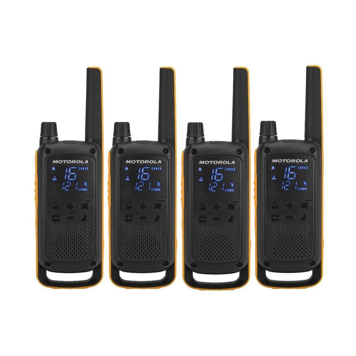 Talkie walkie motorola t82 extreme quadpack - 15% de remise imm�diate avec le code : cadeau15 (photo)