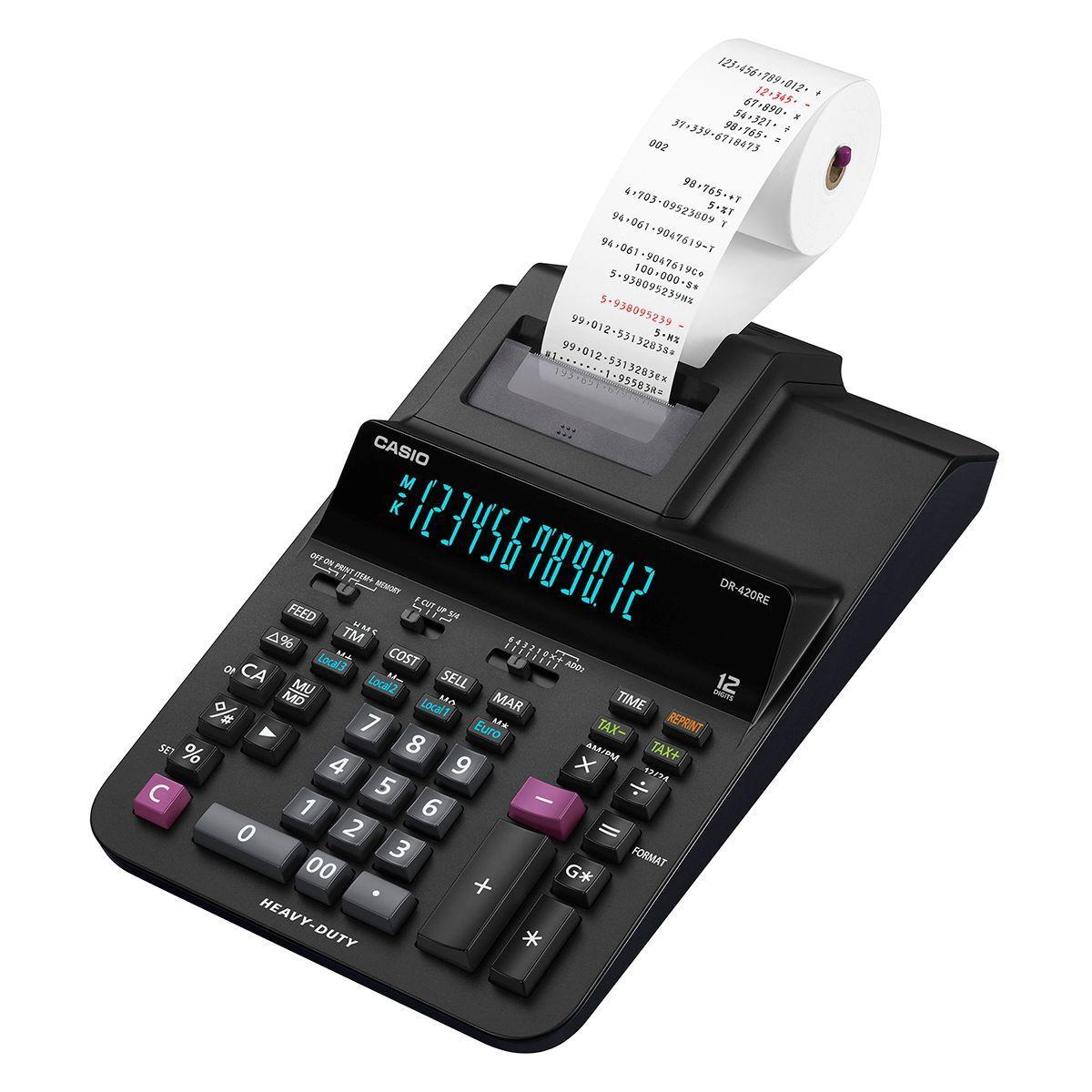 Calculatrice imprimante casio dr-420re - 20% de remise imm�diate avec le code : deal20 (photo)