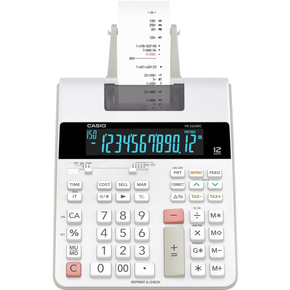 Calculatrice imprimante casio fr-2650rc - 2% de remise imm�diate avec le code : deal2 (photo)