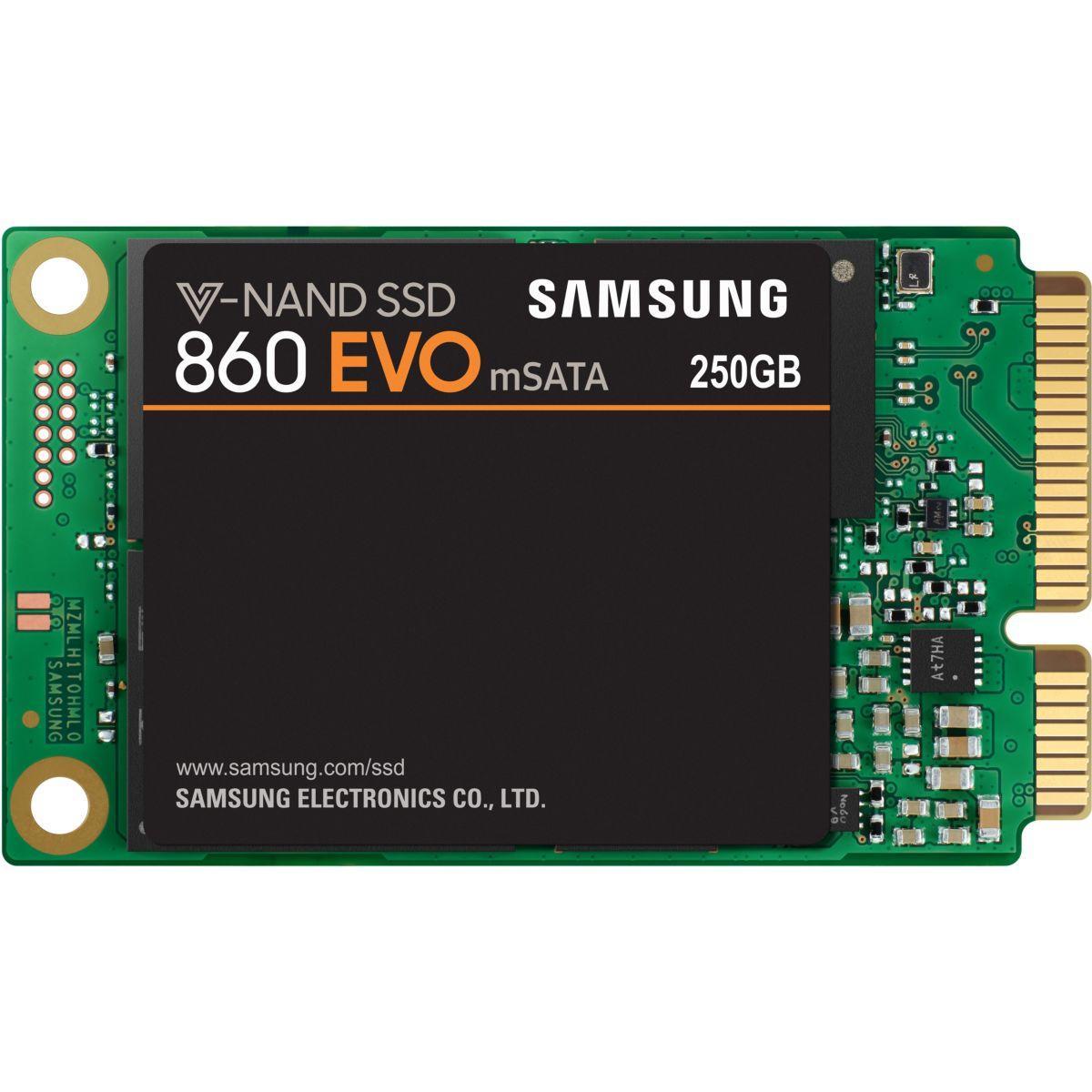 Disque ssd interne samsung ssd 250go 860 evo msata mz-m6e250bw - 2% de remise imm�diate avec le code : deal2