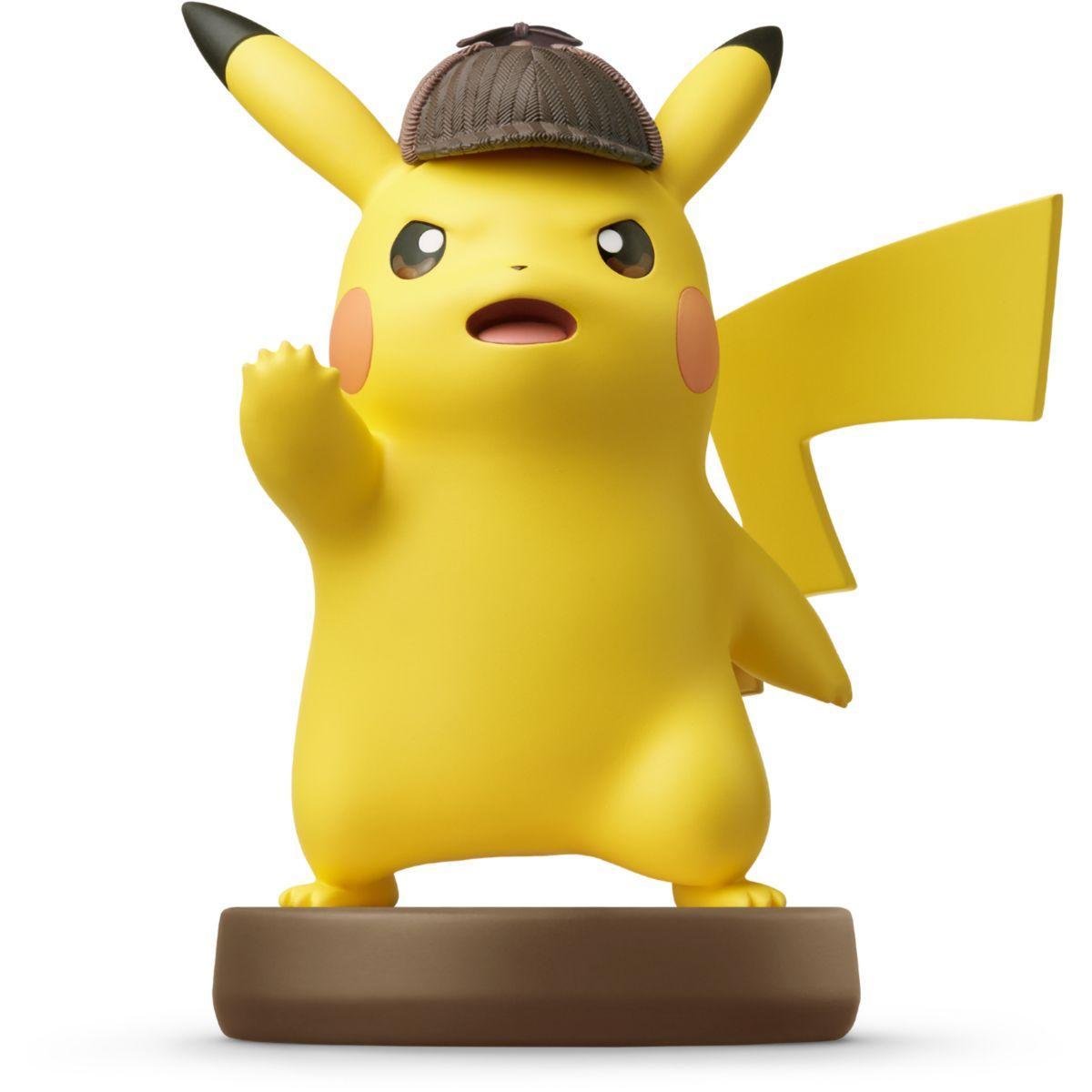 Figurine amiibo nintendo amiibo d�tective pikachu - 2% de remise imm�diate avec le code : cadeau2 (photo)