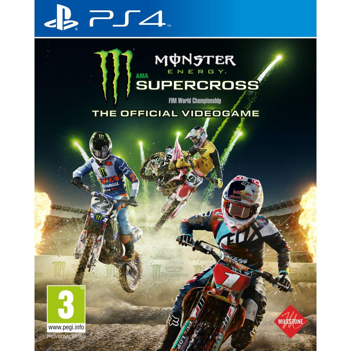 Jeu ps4 bigben monster energy supercross - 2% de remise imm�diate avec le code : priv2 (photo)
