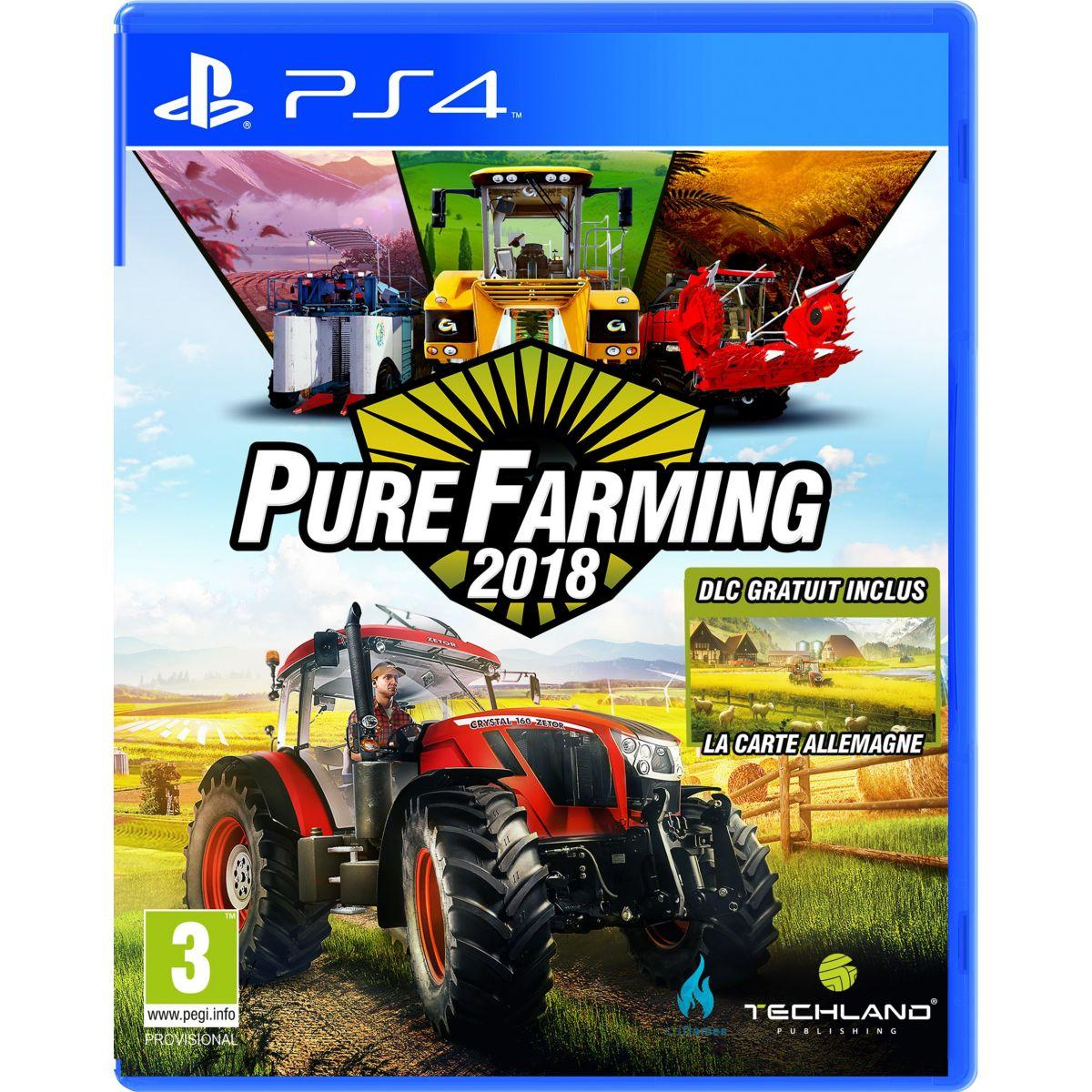 Jeu ps4 koch media pure farming 2018 - day 1 edition (photo)