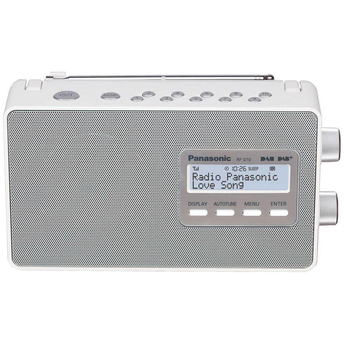 Radio num�rique panasonic rf-d10 blanche - 2% de remise imm�diate avec le code : autom