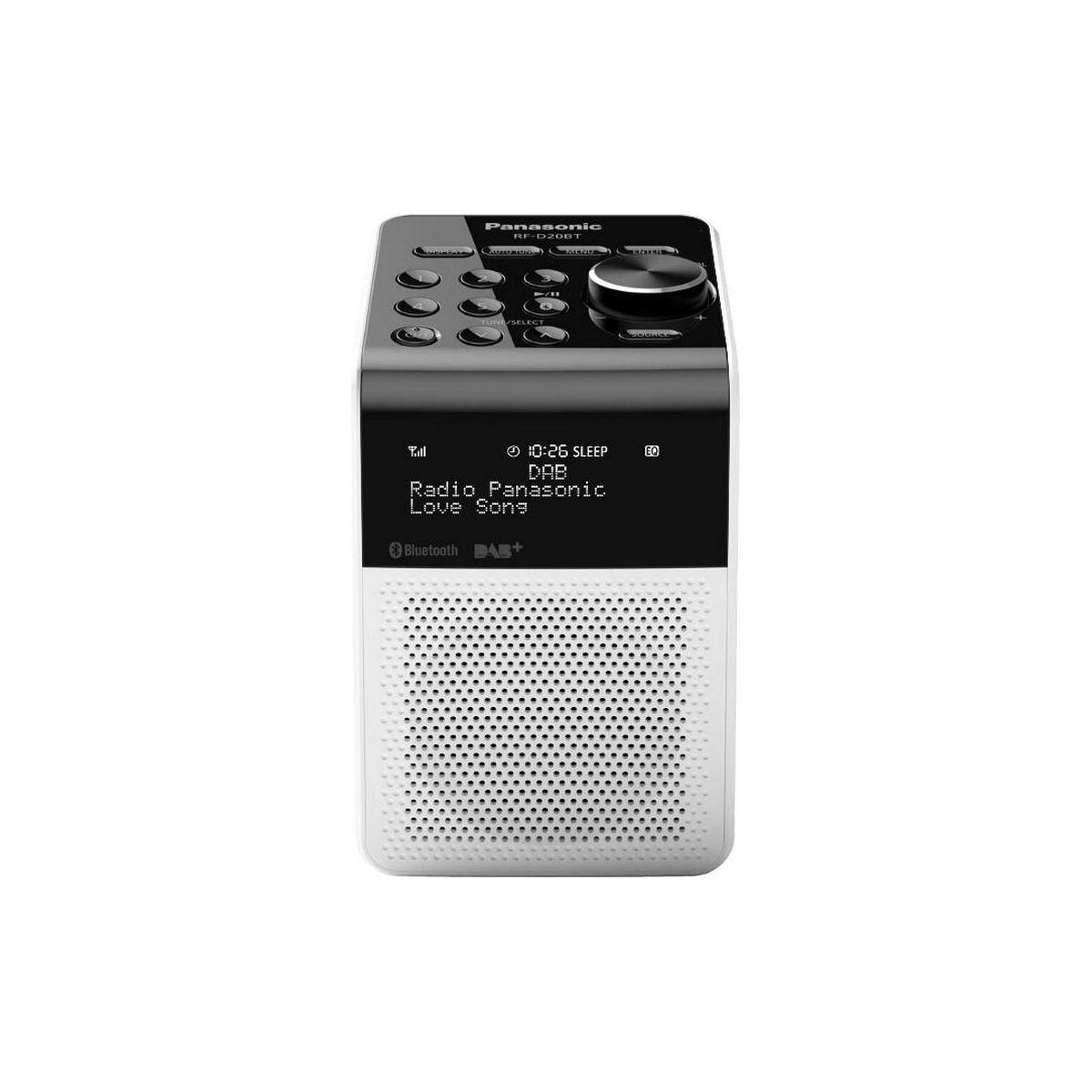 Radio num�rique panasonic rf-d20 blanche - 2% de remise imm�diate avec le code : autom