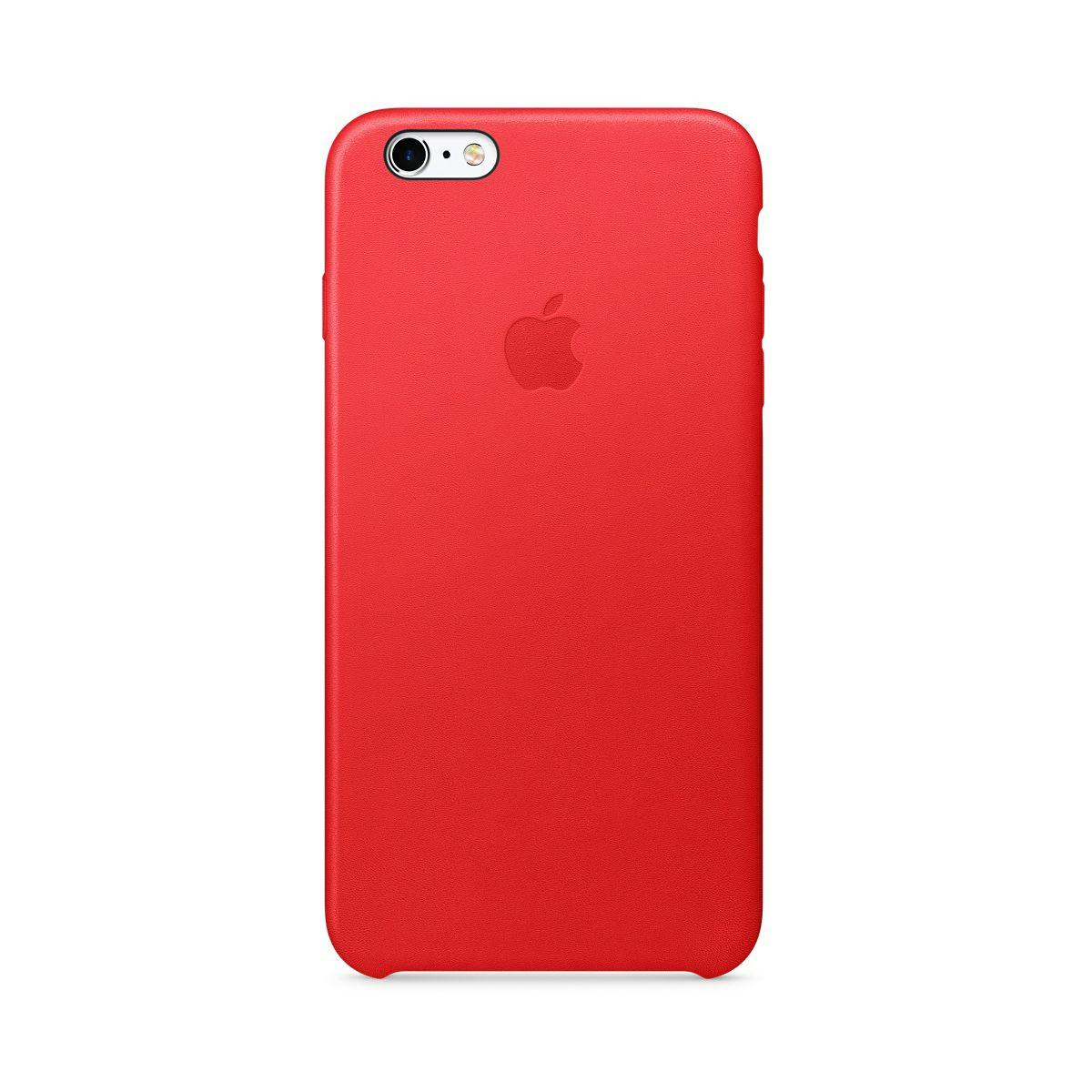 Coque apple iphone 6/6s plus cuir (product) red (photo)