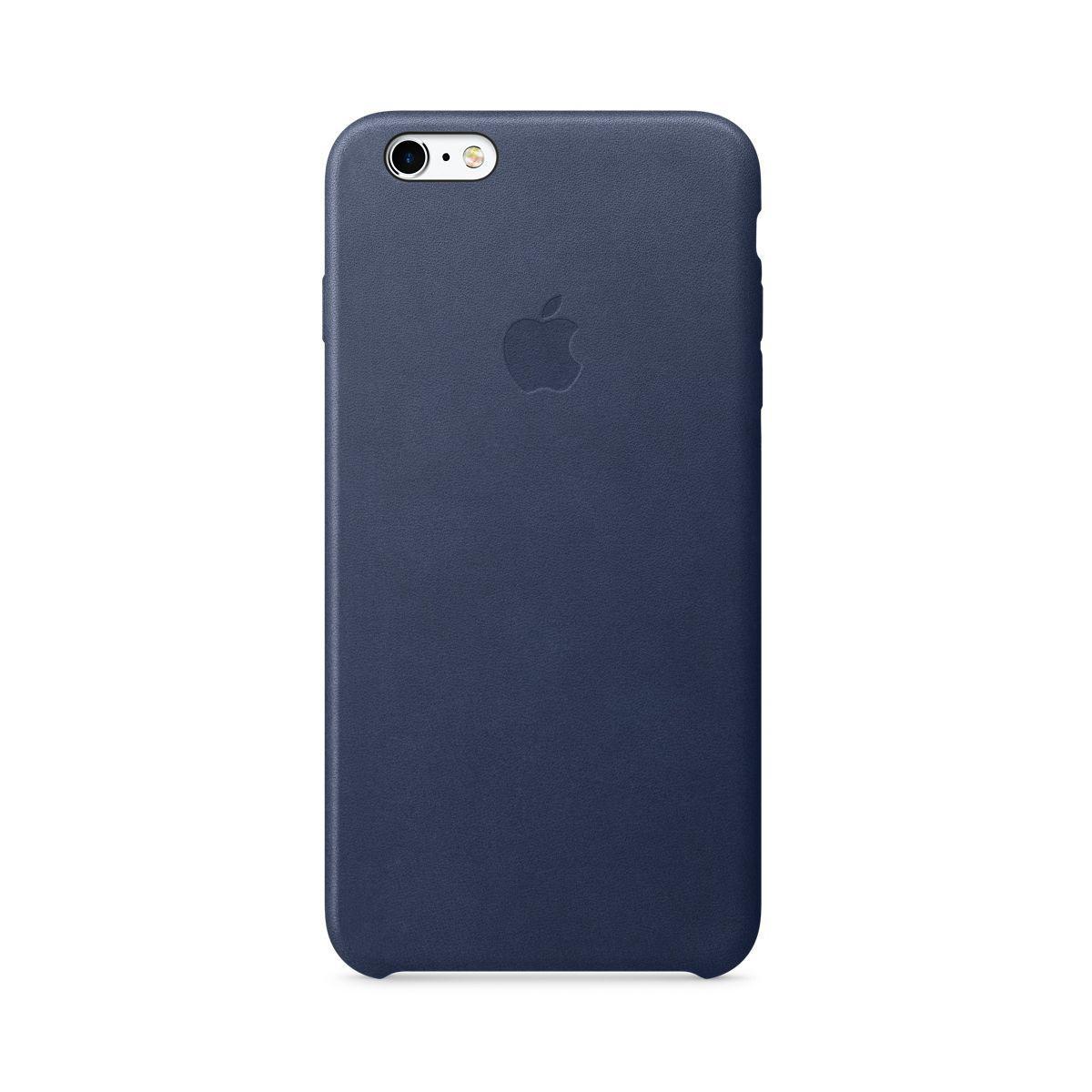 Coque apple iphone 6/6s plus cuir bleu nuit (photo)