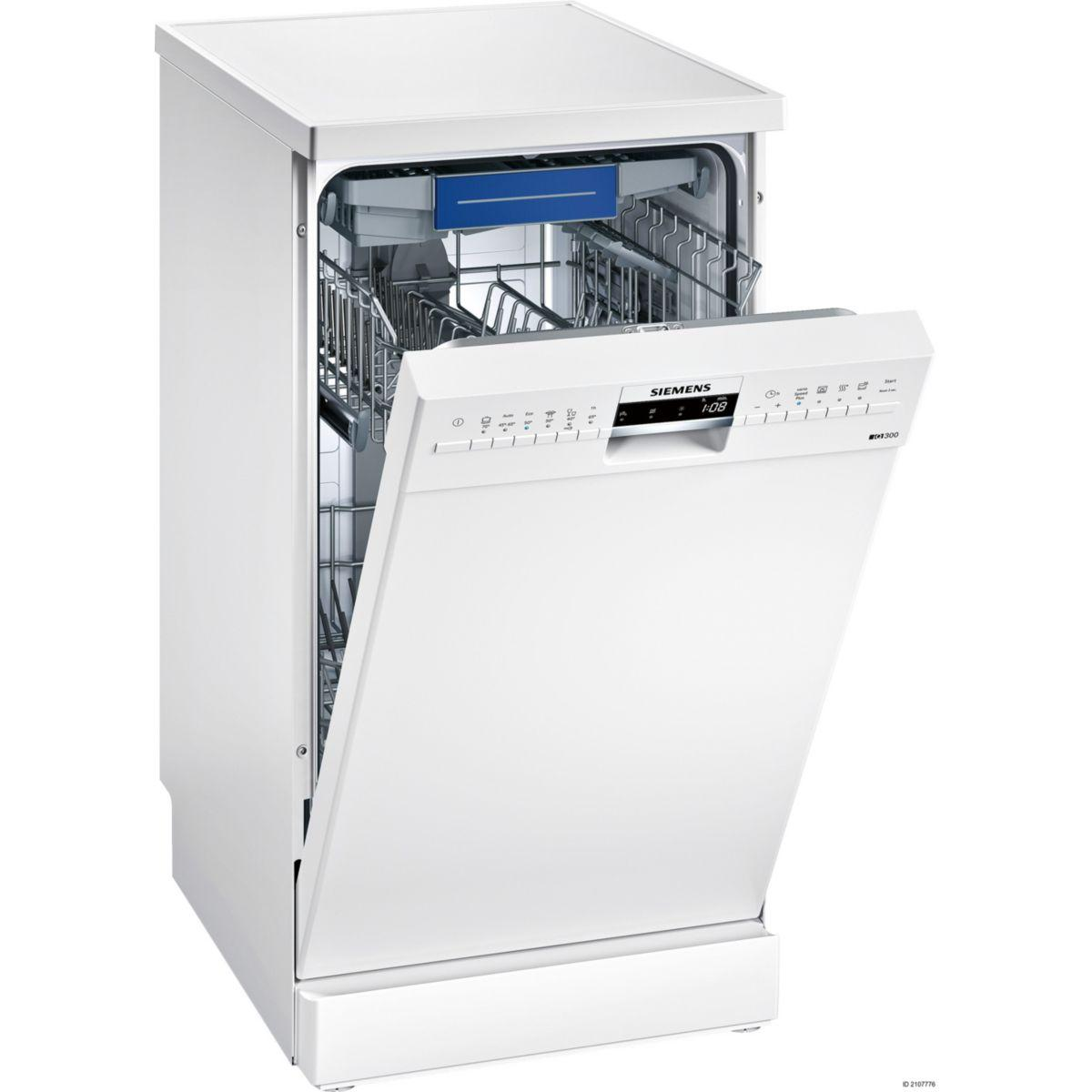 Lave vaisselle 45 cm siemens sr236w01me - livraison offerte : ...