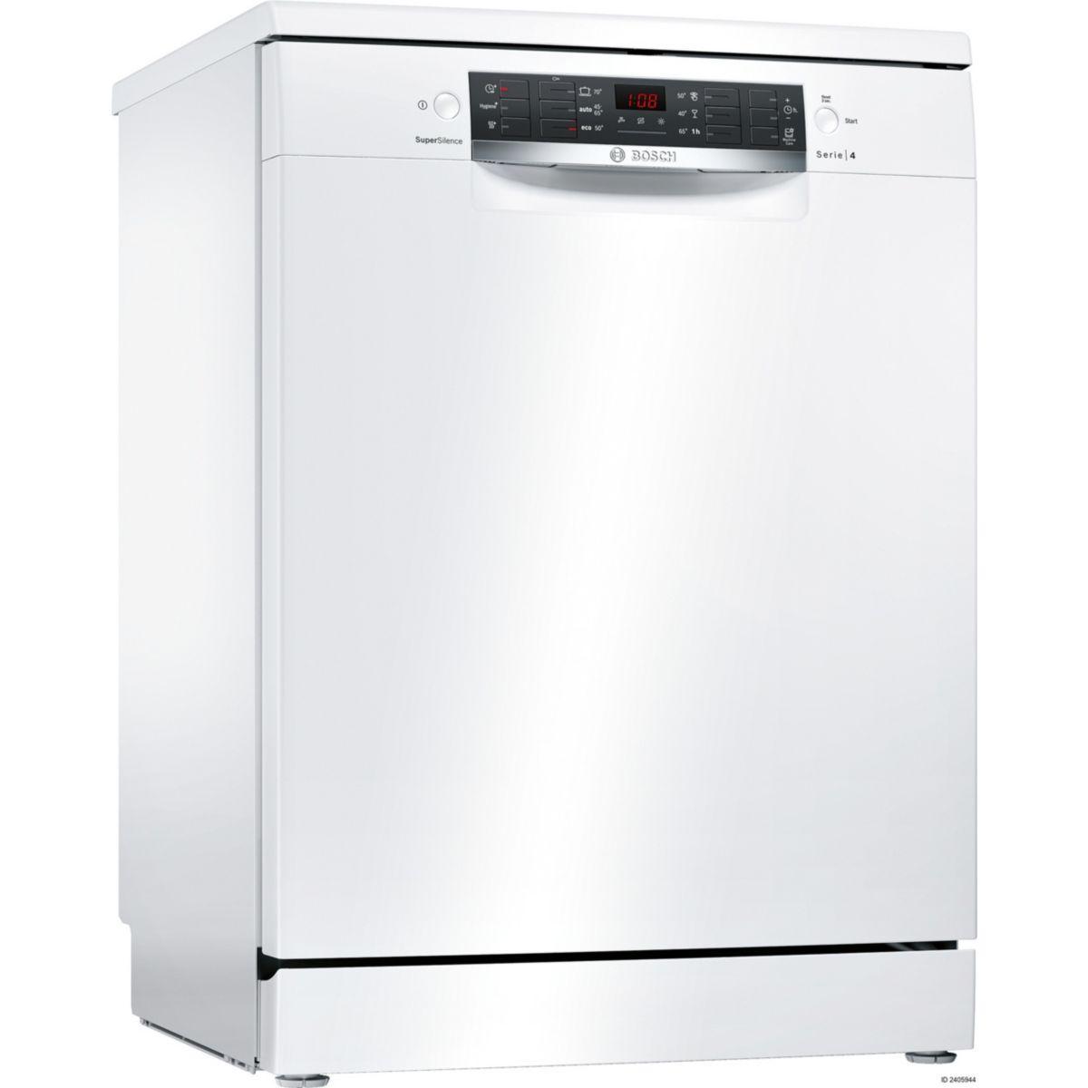 Lave vaisselle 60 cm bosch sms46iw20e - livraison offerte : code premium