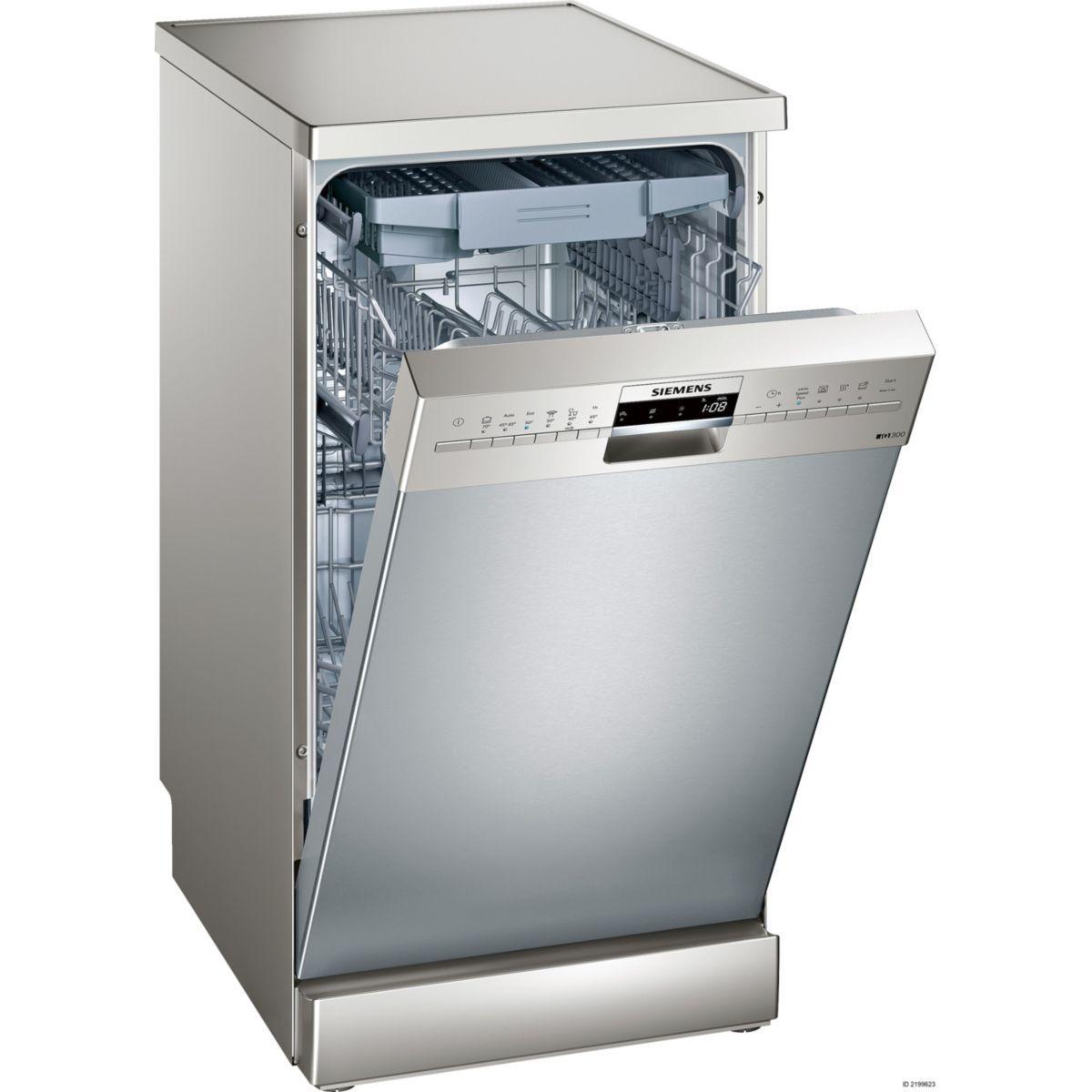 Lave vaisselle 45 cm siemens sr236i00me - livraison offerte : code livp