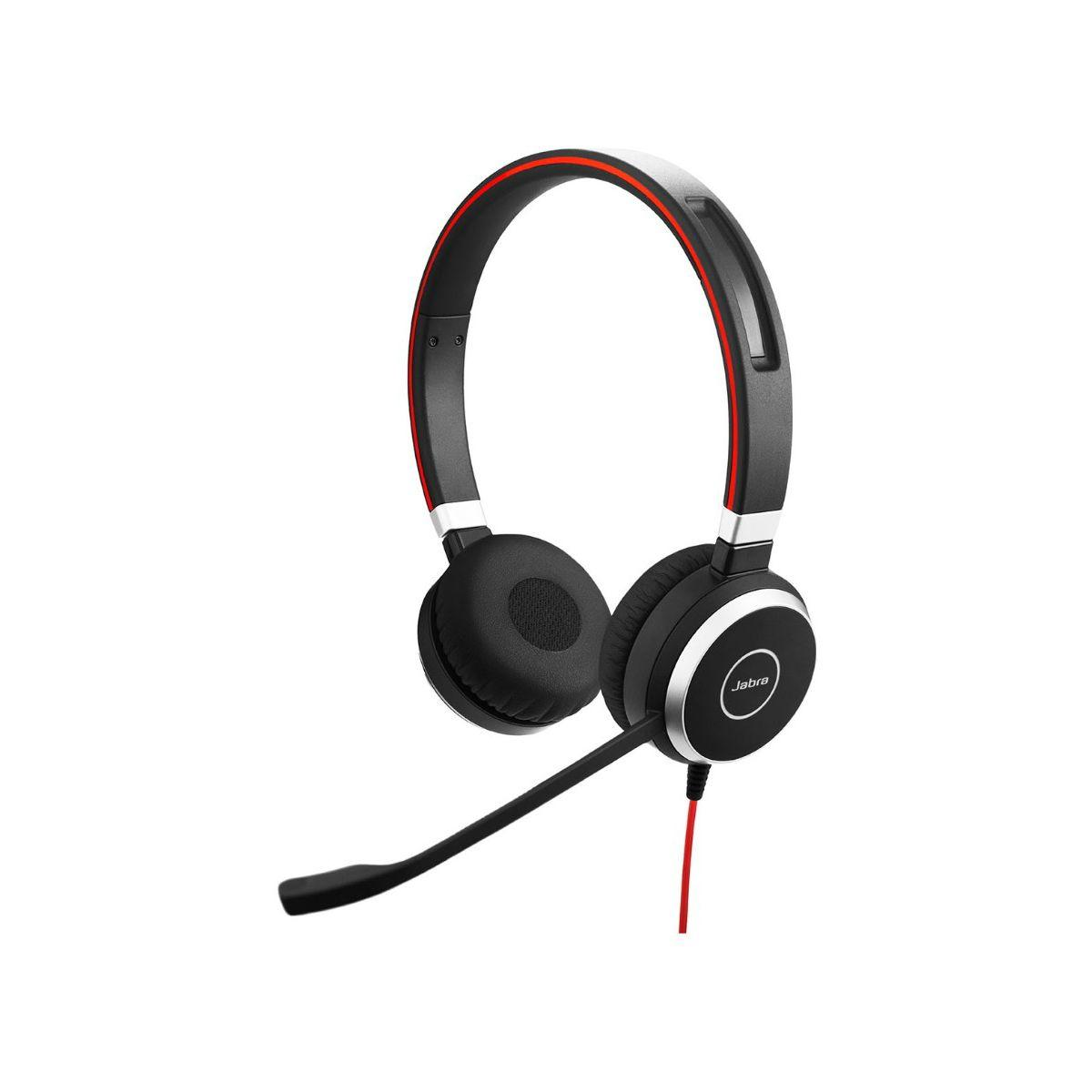 Casque micro t�l�phone fixe jabra evolve 40 (photo)