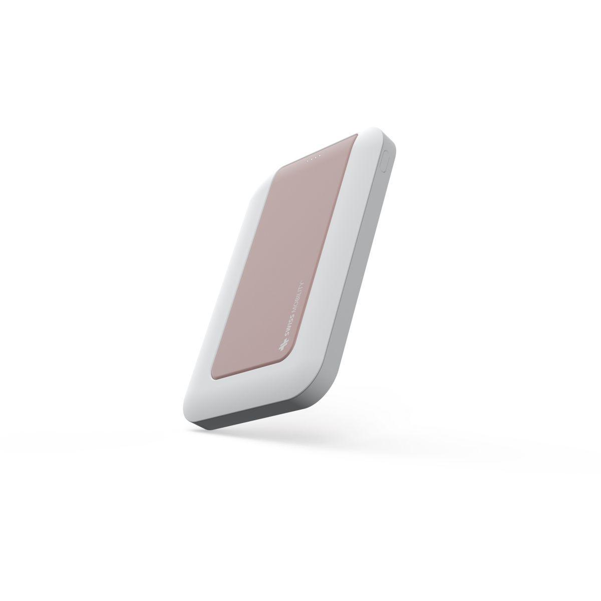 Batterie externe swiss mobility 4000 mah rose gold - 2.4a fast charge - 5% de remise imm�diate avec le code : deal5 (photo)