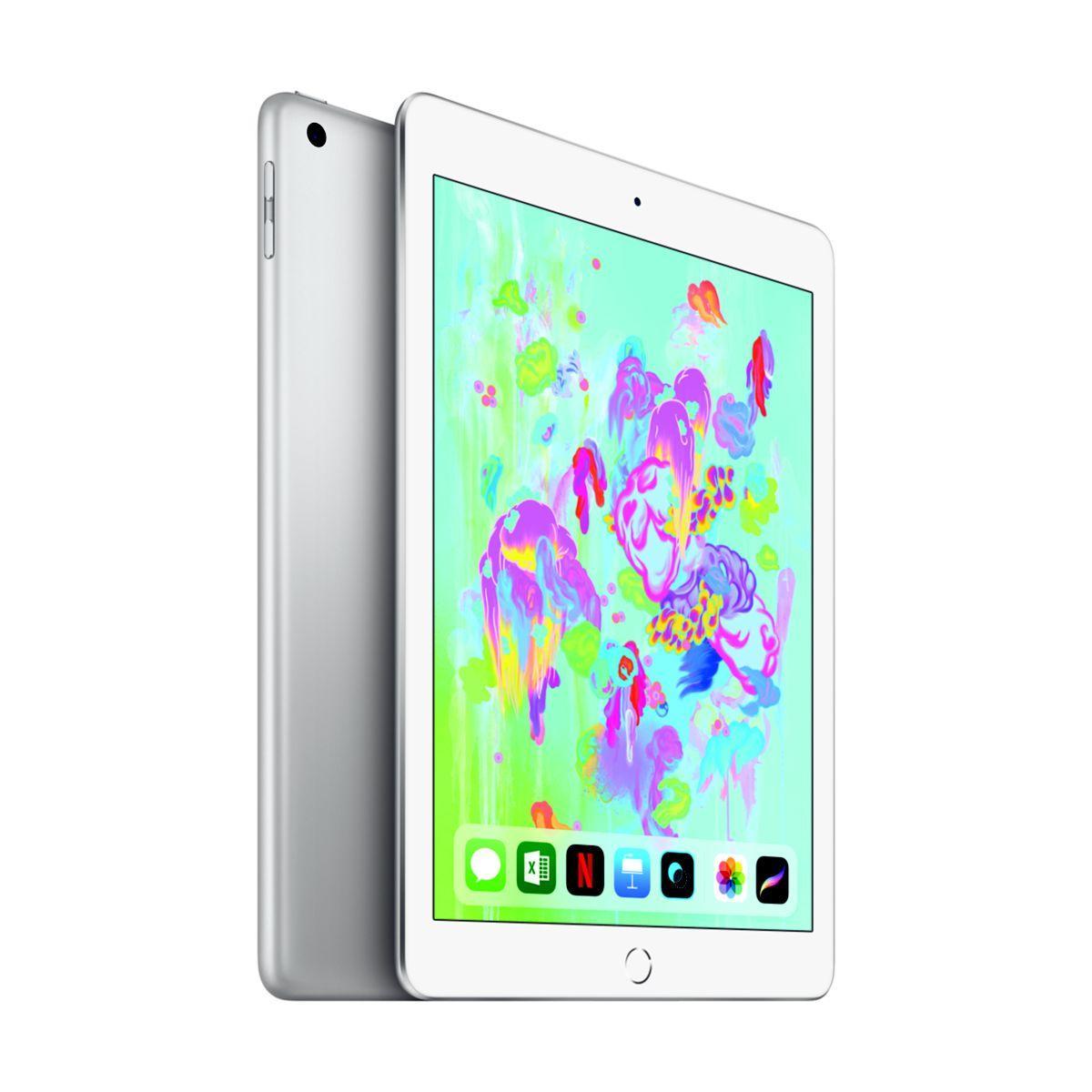 Tablette apple ipad new 128go cell argent - livraison offerte : code livrelais (photo)