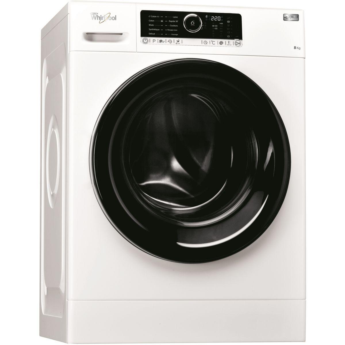 Lave linge hublot whirlpool zen 8 - livraison offerte : code livp