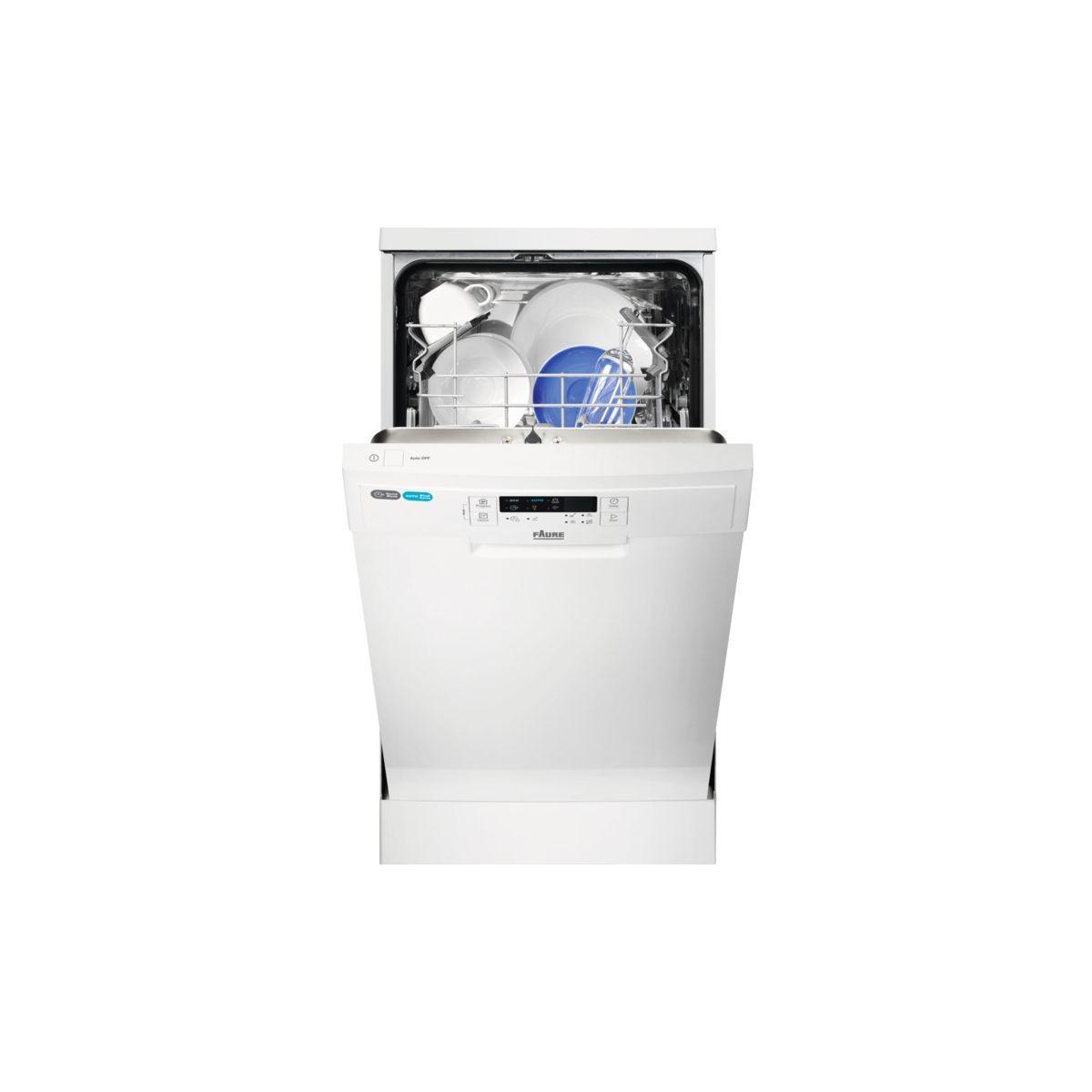 Lave vaisselle 45 cm faure fds15012wa - livraison offerte : code livp