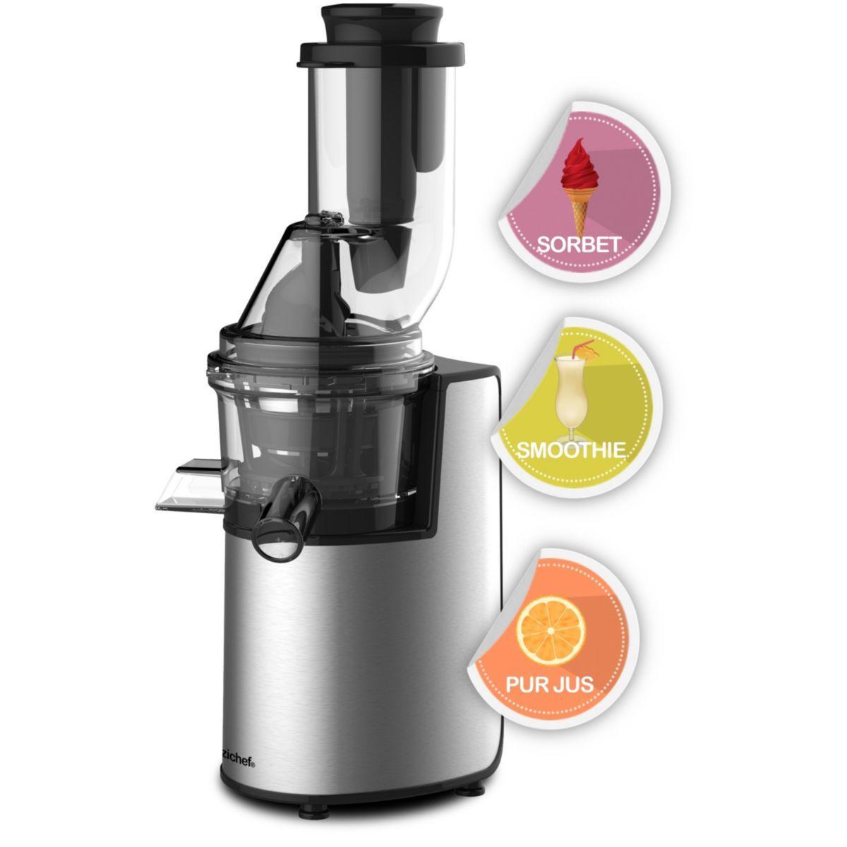 Extracteur de jus e.zichef vitamin xl smoothie et sorbet - livraison offerte : code premium (photo)