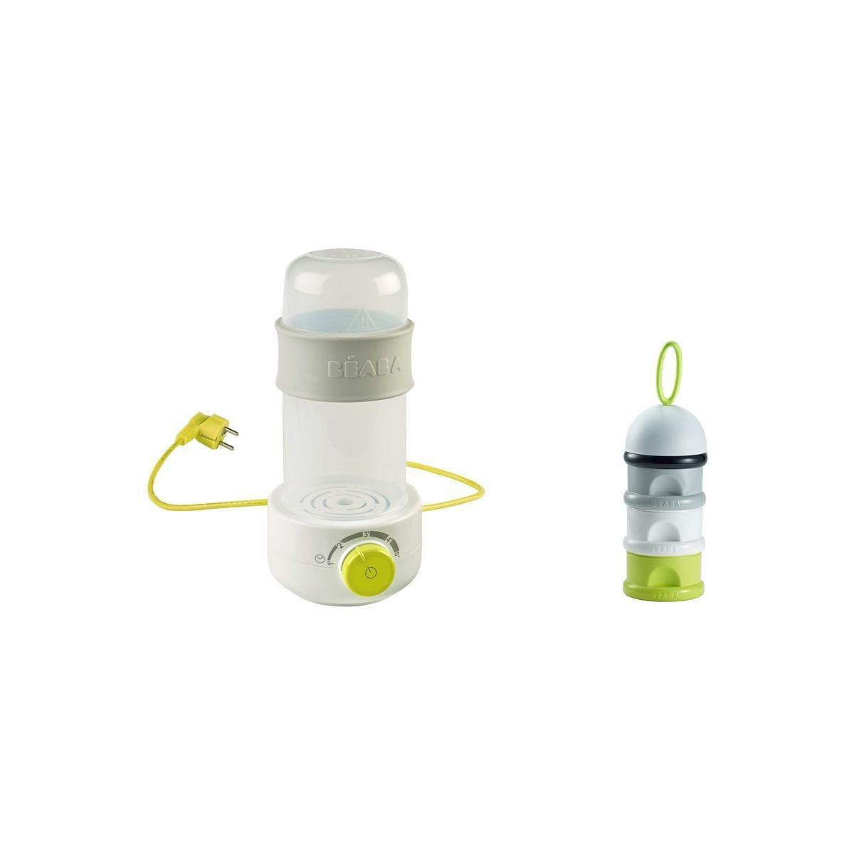 Chauffe biberon beaba 911661 babymilk + boite doseuse n�on - livraison offerte : code livdom (photo)