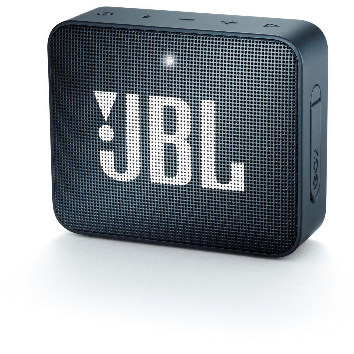 Enceinte bluetooth jbl go 2 bleu marin - livraison offerte : code livdom (photo)