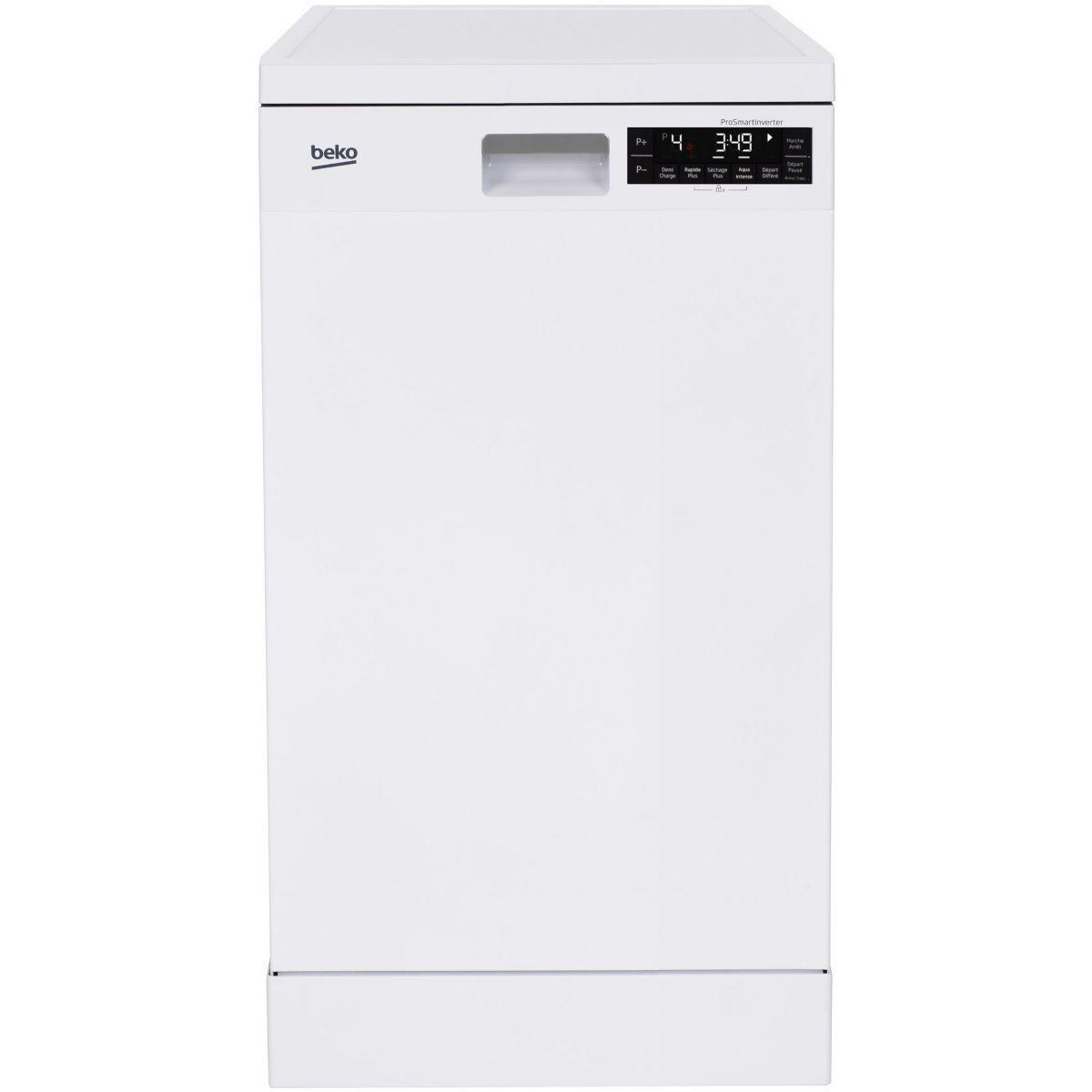 Lave vaisselle 45 cm beko dfs28120w - livraison offerte : code livp