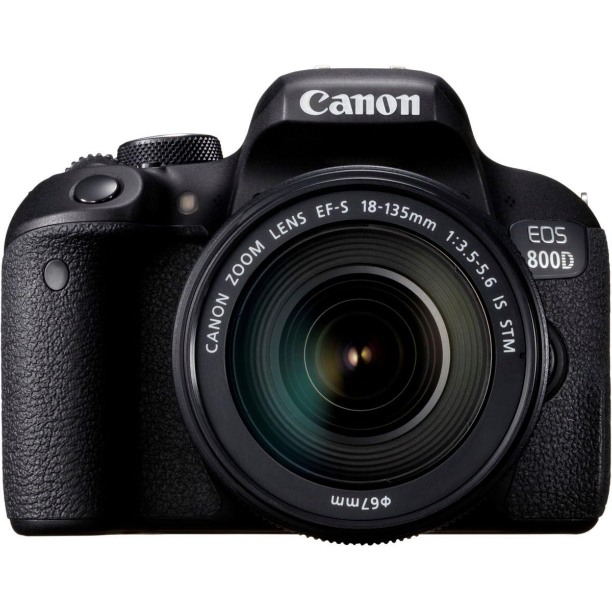 Reflex canon eos 800d + 18-135 is stm - 7% de remise imm�diate avec le code : fete7