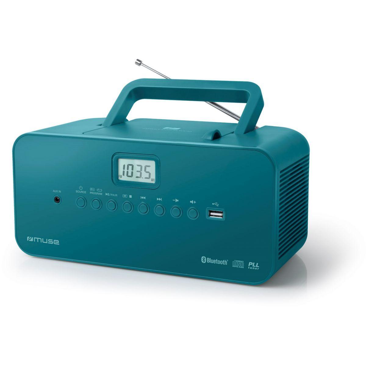 Radio cd muse m-30 bt bleu (photo)