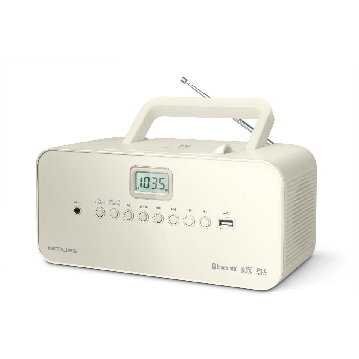 Radio cd muse m-30 bt blanc (photo)
