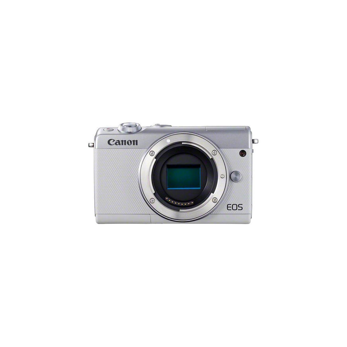 Appareil photo hybride canon eos m100 blanc - 7% de remise imm�diate avec le code : fete7