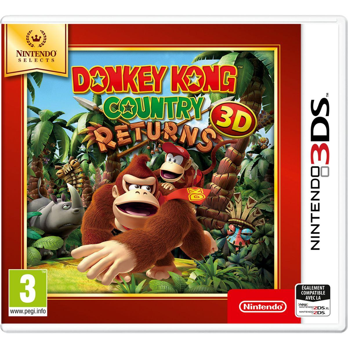 Jeu 3ds nintendo donkey kong country returns selects (photo)