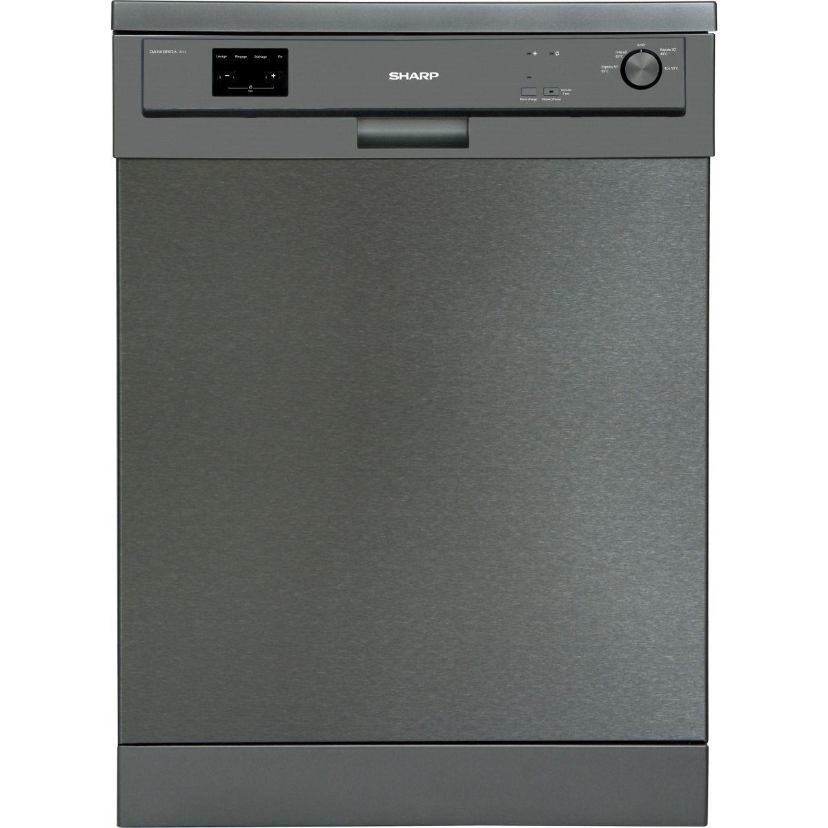 Lave vaisselle 60 cm sharp qw-hx13f472a-fr - livraison offerte : code livp