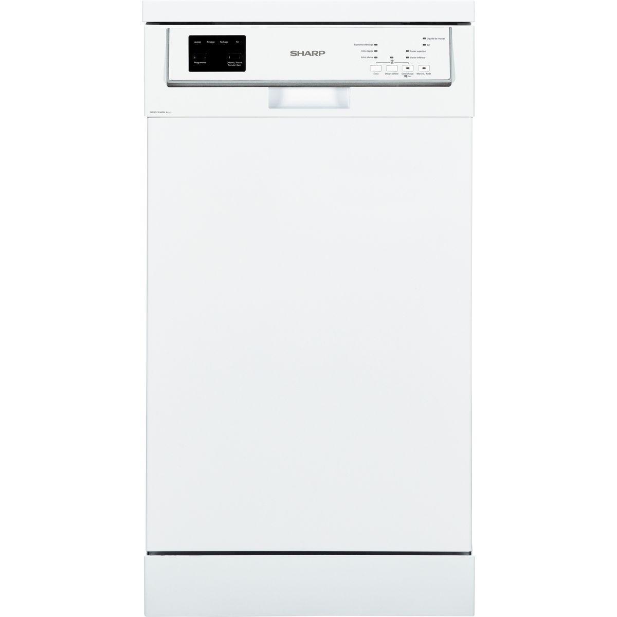 Lave vaisselle 45 cm sharp qw-hs25f443w - livraison offerte : code livp