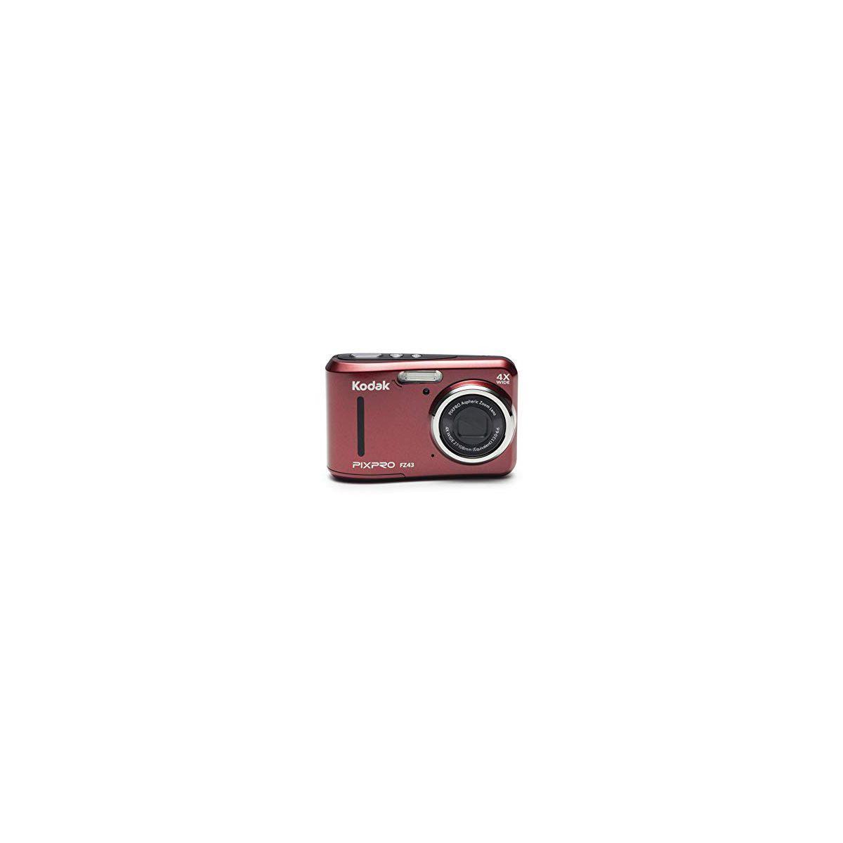 Appareil photo compact kodak pixpro fz43 rouge - 2% de remise imm�diate avec le code : school2 (photo)