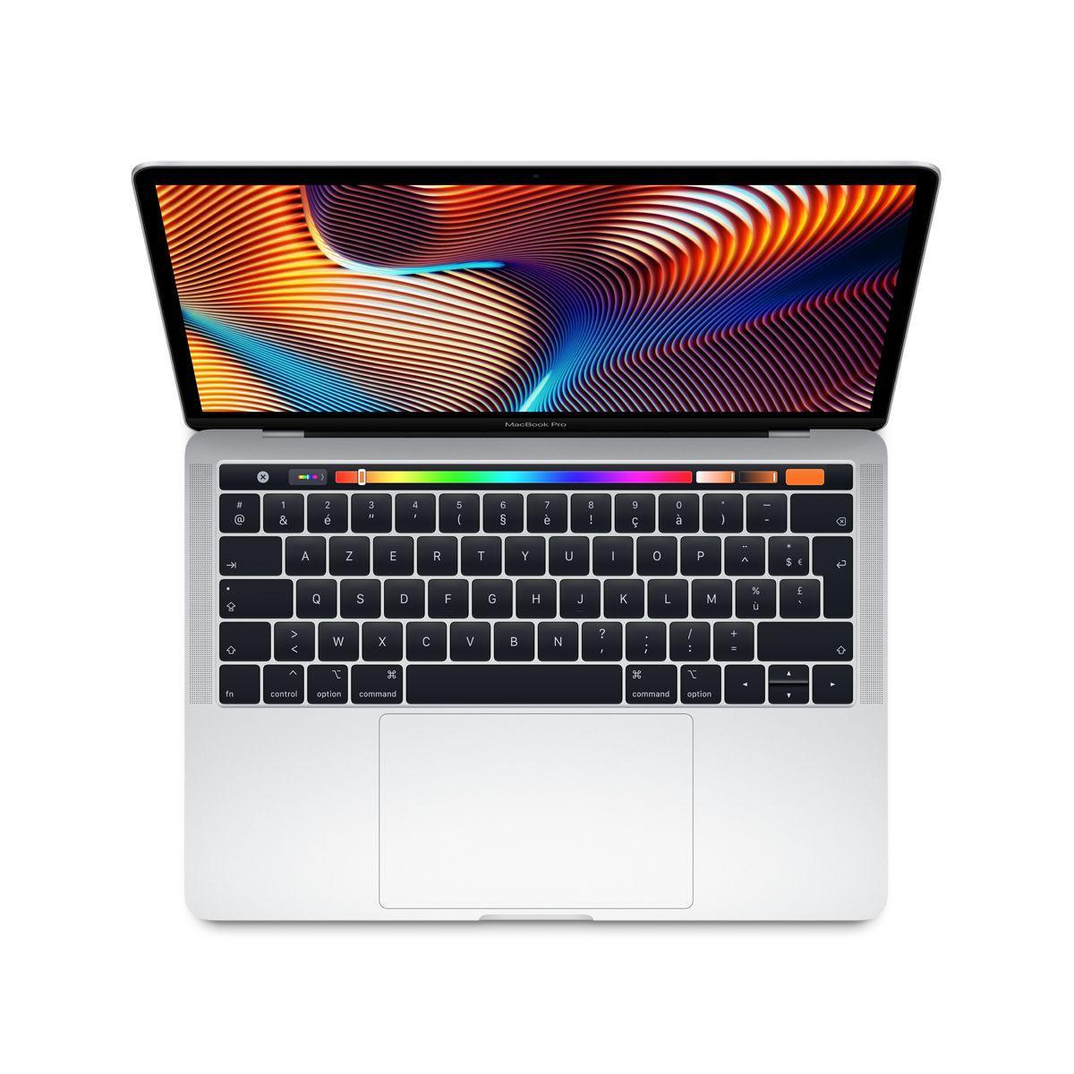 Ordinateur apple macbook pro new 13p touch bar i5 512go argent (photo)