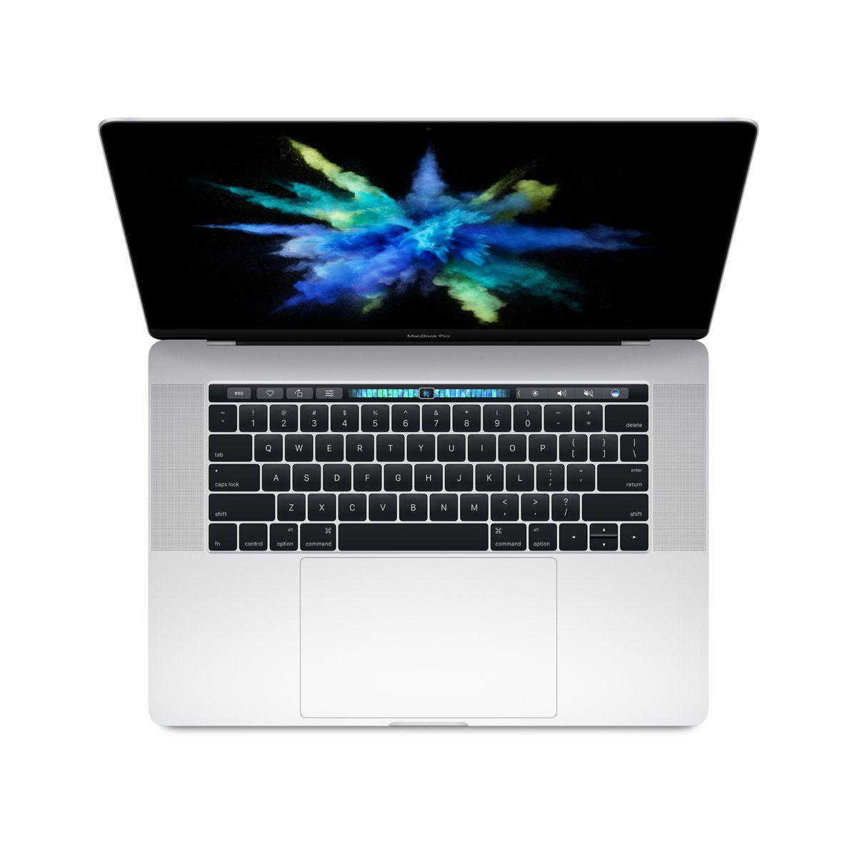 Ordinateur apple macbook pro new 15p touch bar i7 256go argent (photo)