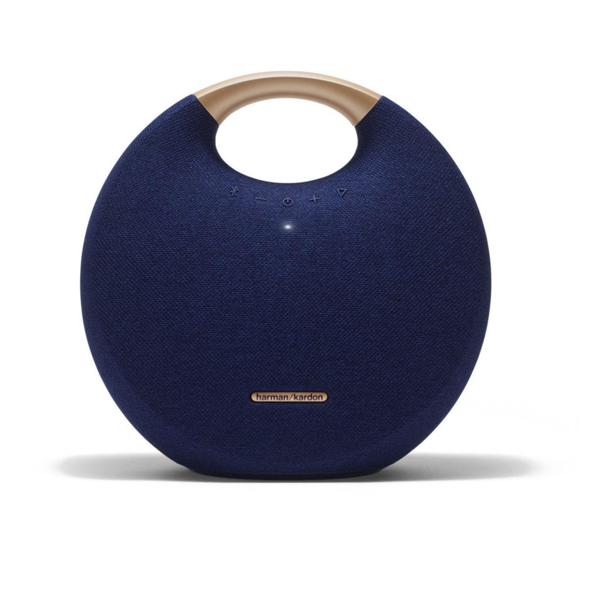 Enceinte bluetooth harman kardon onyx studio 5 bleu - livraison offerte : code premium (photo)