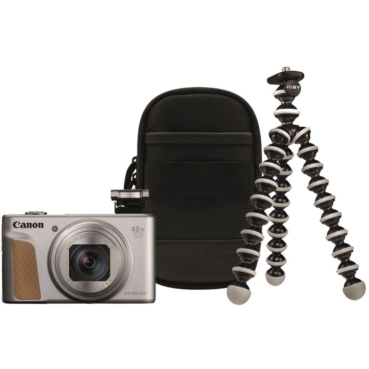 Appareil photo compact canon powershot sx740 hs argent+trepied+housse - livraison offerte : code premium