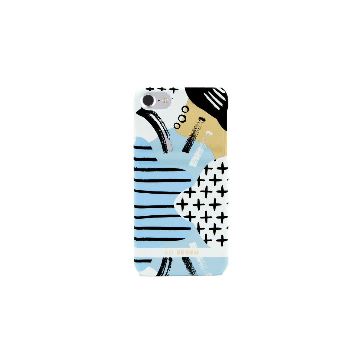 Coque so seven brooklin traits bleu apple iphone 7 - 10% de remise imm�diate avec le cod
