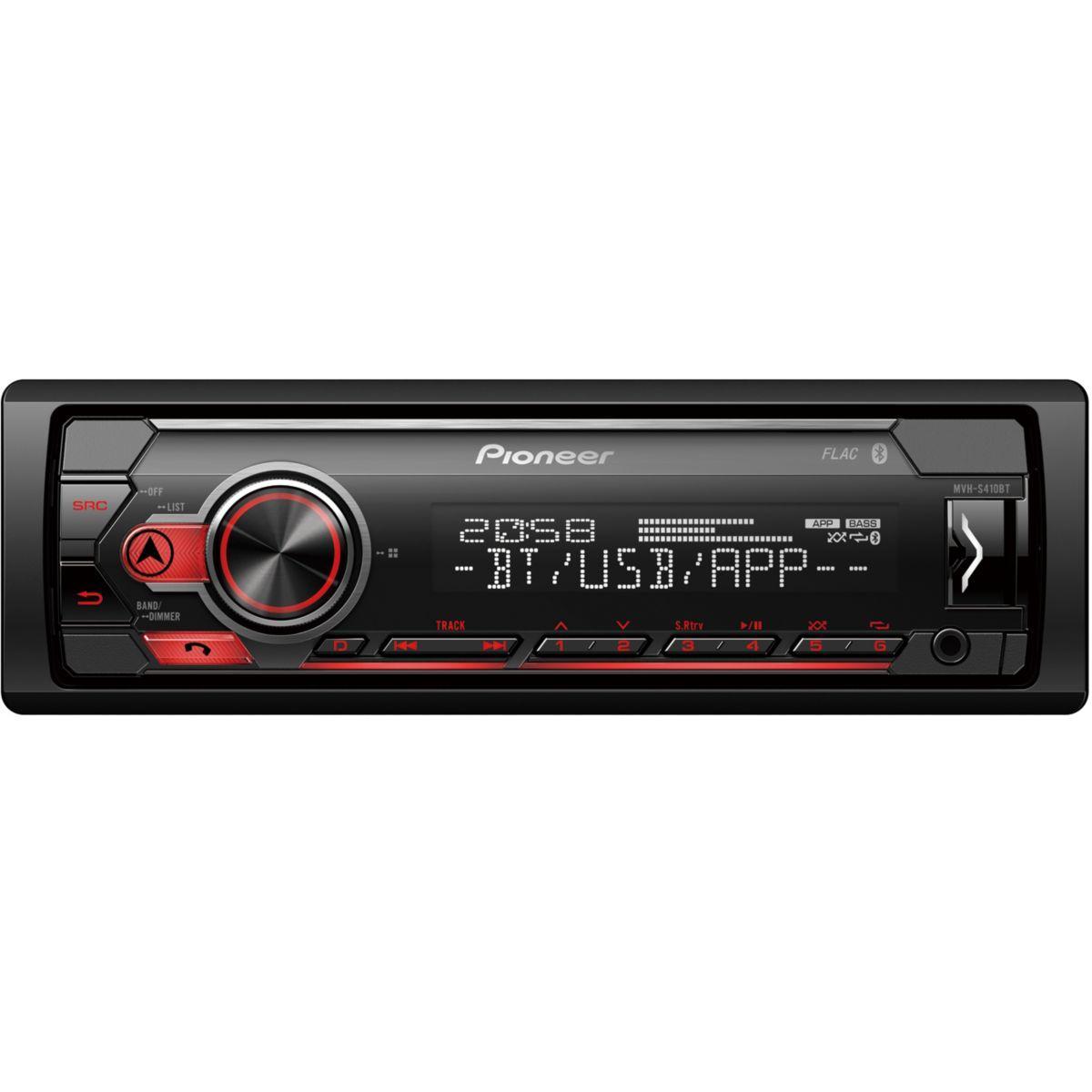Auto-radio pioneer mvh-s410bt - usb ipod bluetooth - livraison offerte : code premium