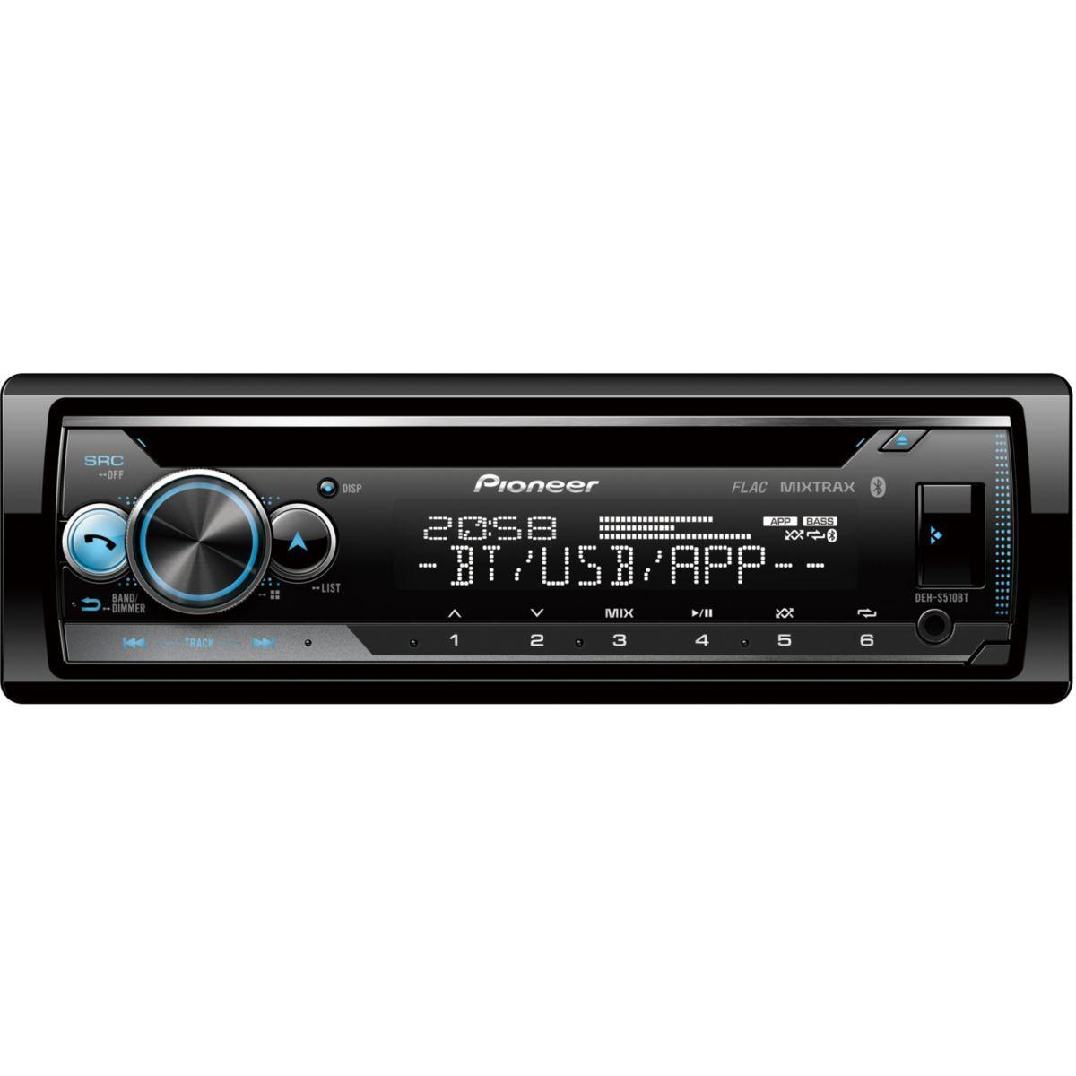 Autoradio cd pioneer deh-s510bt mixtrax cd usb ipod bluetooth - livraison offerte : code livprem (photo)